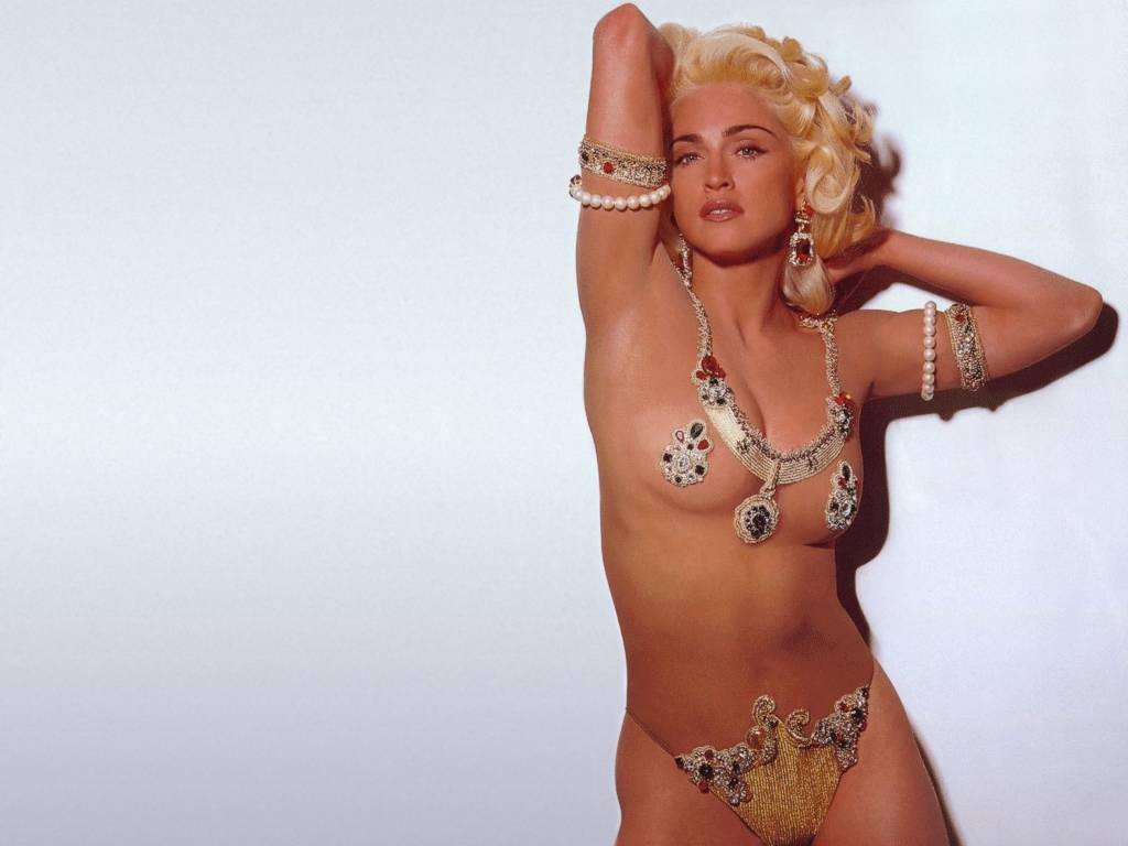 madonna looking sexy and almost naked